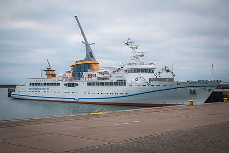 MS helgoland, Feri, boot, Helgoland, kapal, air, pengiriman