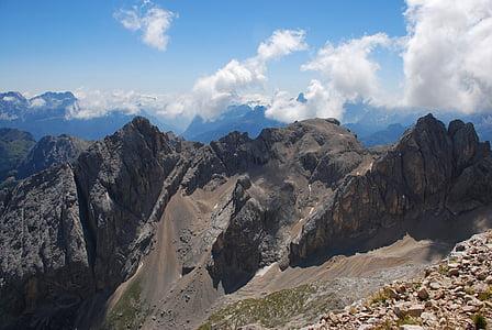 mountains, the dolomites, italy