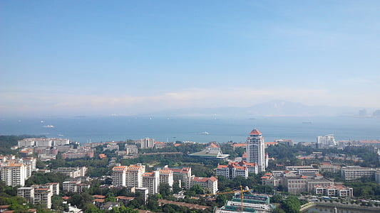the scenery, xiamen, overlooking the, cityscape, urban Skyline, urban Scene, architecture