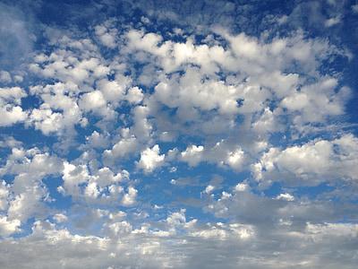 Cloudscape, pilvet, taivas, sininen, valo, pilvistä, päivä