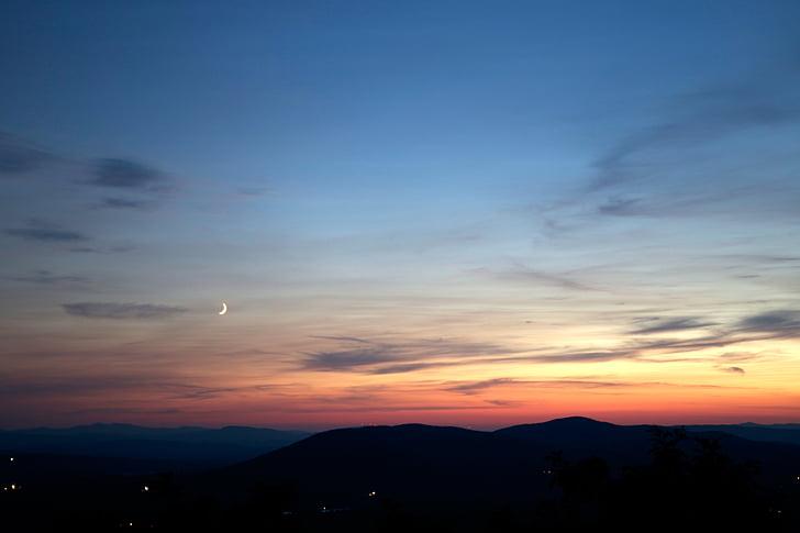 dusk, sky, sunset, twilight