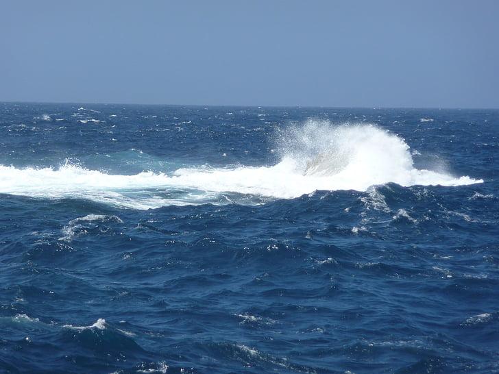 navegar per, Mar, Mediterrània, ona, escuma de mar