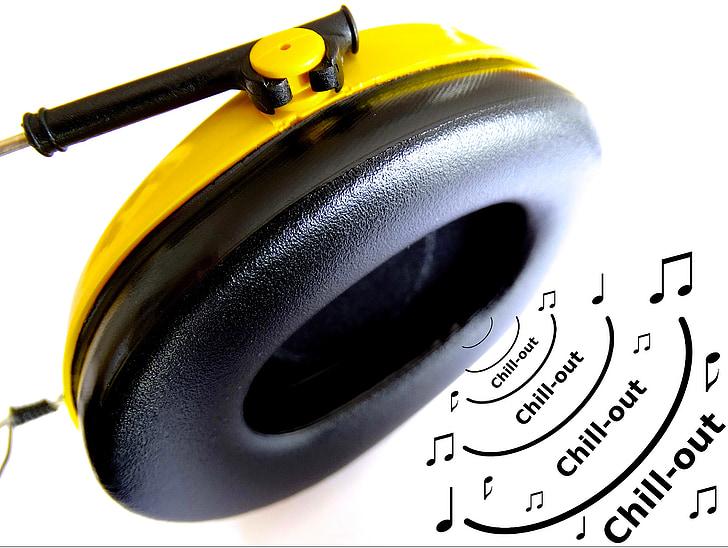 hoofdtelefoon, muziek beluisteren, profiteren van, Geniet van, relaxen, ontspannen, Luister naar