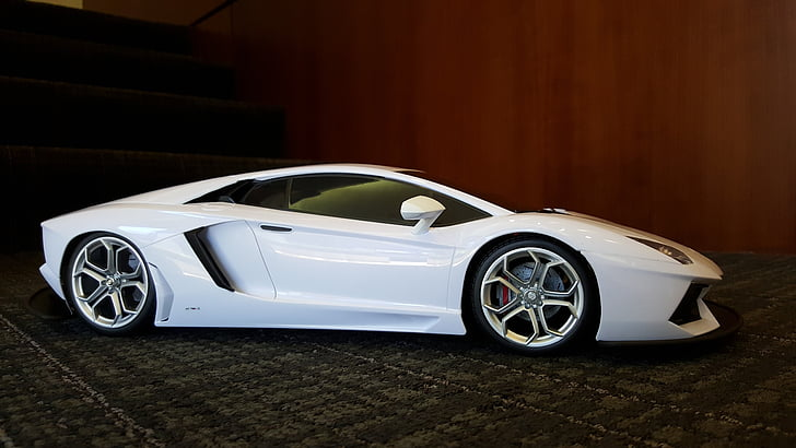 toy car, white car, car, white, transportation, vehicle, auto