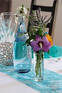 dekorace na stůl, květ, váza, dekorace, květ, Bloom, Zátiší