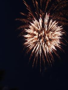 tűzijáték, sós keksz, Sylvester, durrogtatás, rakéta, robbanás, újév napja