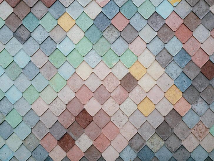 färgglada, färg, färgade plattor, färgglada, färger, design, pastellfärger