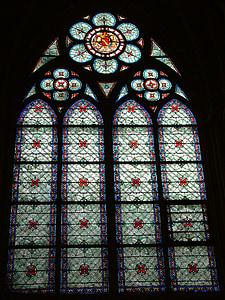 París, Notre-dame, Vitrall, França, Catedral, l'església