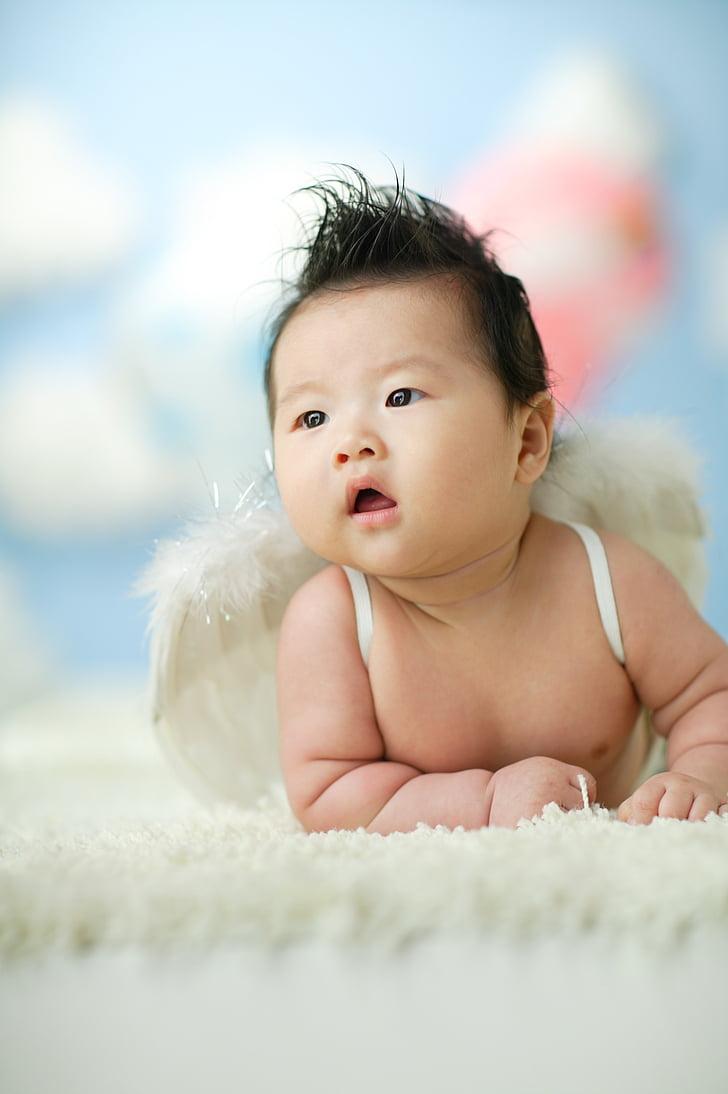 nadó, Àngel, nadó, només els nadons, una persona, Retrat, valent