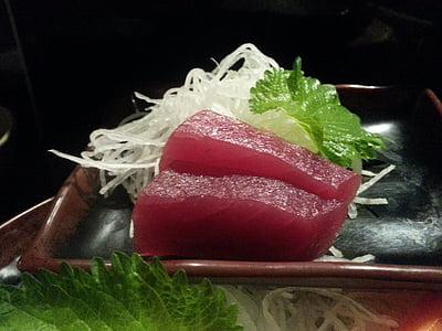 sushi, Sashimi de, japonès, aliments, tonyina, carn, vermell