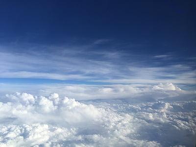neba, Sky, oblaky, modrá, scéna, atmosféra