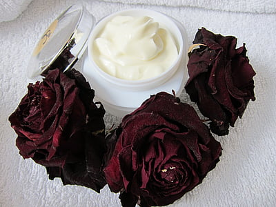 грижа за кожата, физически крем, Роза, кожа Грижа за красота, Спа, органични, крем