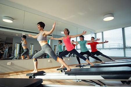 pesos, salut, feliç, esports, formació, Ioga, Pilates