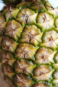close up, pineapple, macro, fruit, food, freshness, ripe