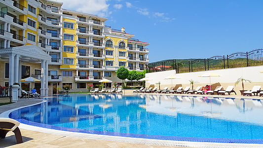 Bulgaristan, apartman kompleksi, Havuzu, Floransa villa, Yüzme Havuzu, su, lüks
