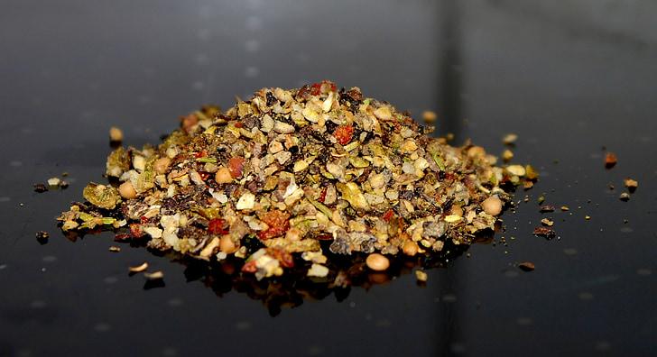 pimienta, colorido, especias, mezcla de especias, Filete, aroma