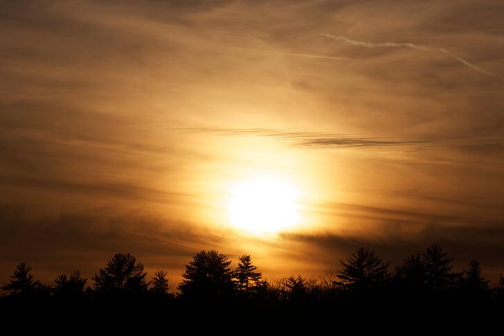 moln, skymning, solen, solnedgång, Twilight, naturen, Sky
