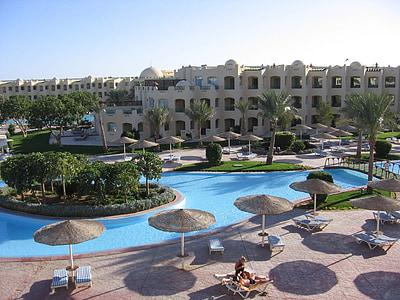 Hotel, Hurghada, Resort, Ägypten, Luxus, Urlaub, Architektur