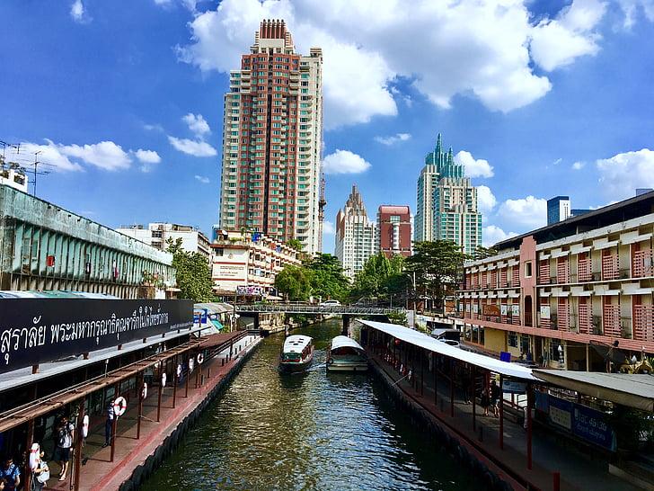 bangkok, city, sky, community, tower
