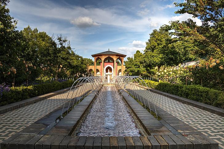 maailma aiad, Vesi Mängud, Berliin, purskkaev, vee, voolu, idamaine