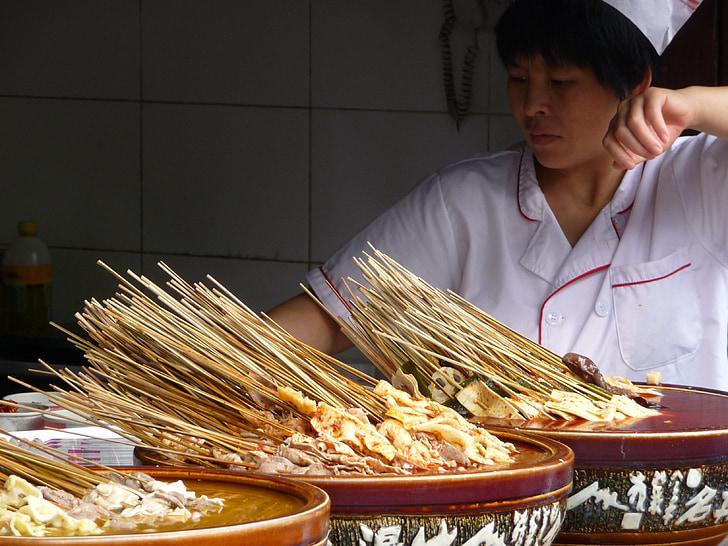 China, comendo, culinária, comida
