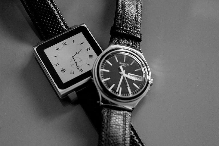 tiempo, reloj, relojes, cronómetro, reloj, elegante, joyería