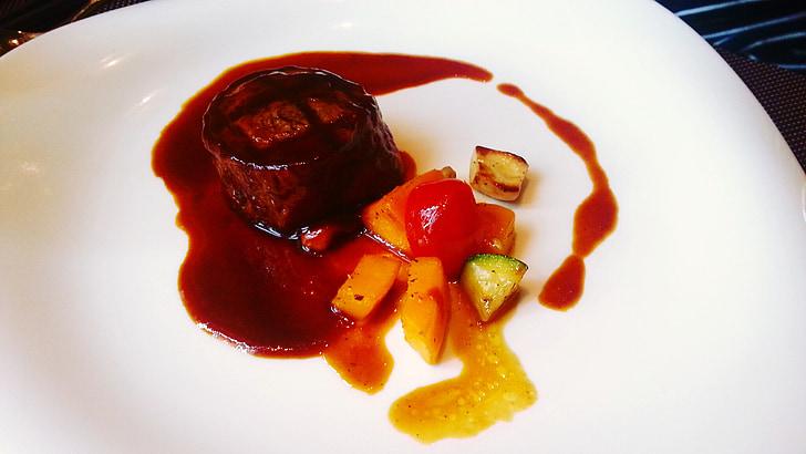Bistec, aliments, Restaurant, bufet