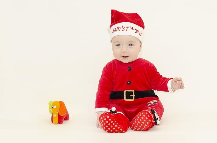 santa, baby, christmas, mood, winter, 1st christmas, xmas