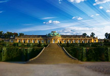 закриті Сансусі, Потсдам, Визначні пам'ятки, Історія, Фрідріх ii, Пруссія, Замок