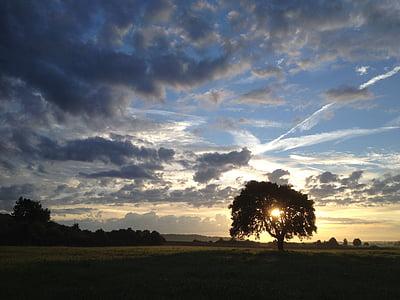 východ slunce, mraky, obloha, ráno, Příroda, nálada, za úsvitu