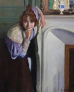 rusinol ซานติอาโก, ศิลปะ, ศิลปะ, ภาพวาด, สีน้ำมันบนผ้าใบ, ศิลปะ, แนวตั้ง