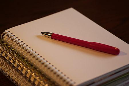 ploma, document, Llibreta, negoci, Oficina, en blanc, comunicació