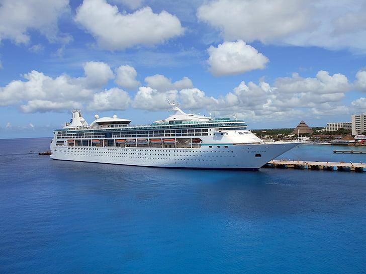 Vision haven, Cozumel, kryssningsfartyg, fartyg, resor, Karibien, turism