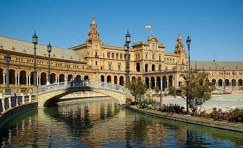 Espanya, Andalusia, Sevilla, en lloc d'Espanya, arquitectura, renom, Europa
