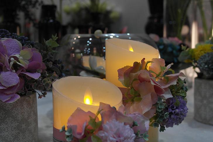 vela de lujo, Foto de bonitas velas, bonitas velas