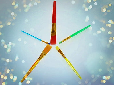 raspall, cosmètica, bokeh, efecte, fons, color, conformen