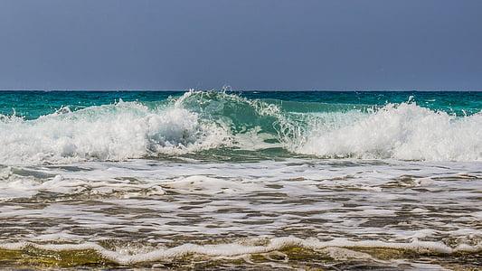 ona, trencant, Mar, Costa, natura, platja, esquitxades