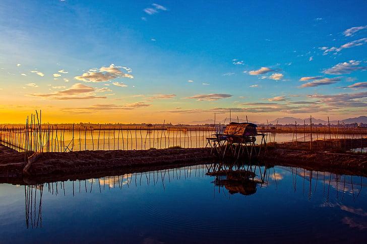 Alba, Laguna, Hue, Vietnam, Alba, Lago