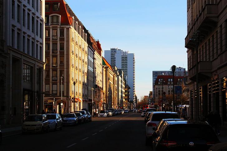 Berlín, ciutat, Himmel, vida de la ciutat, arquitectura, cotxes