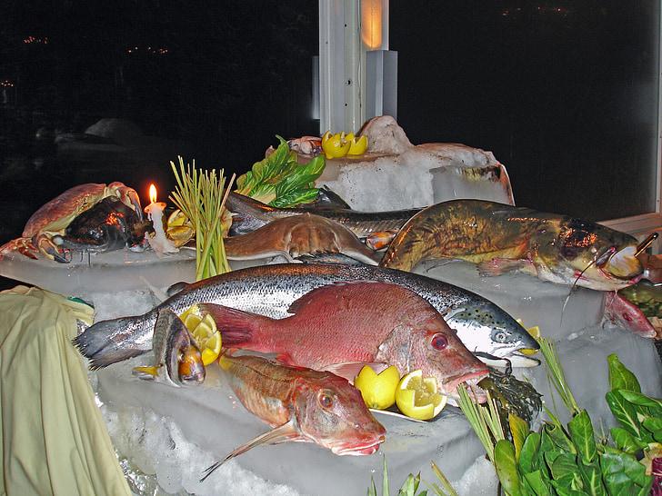 peix, bufet, bufet de peix, àpat, deliciós, saborosa, Frisch