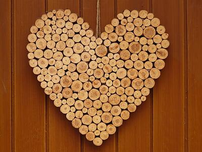heart, love, wooden heart, symbol, romance, valentine's day, romantic
