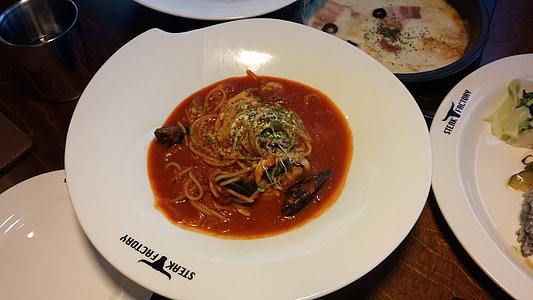 spagetid, Cooking, tomat