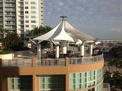 pogled s terase hotel Miami, Hotel, odmor