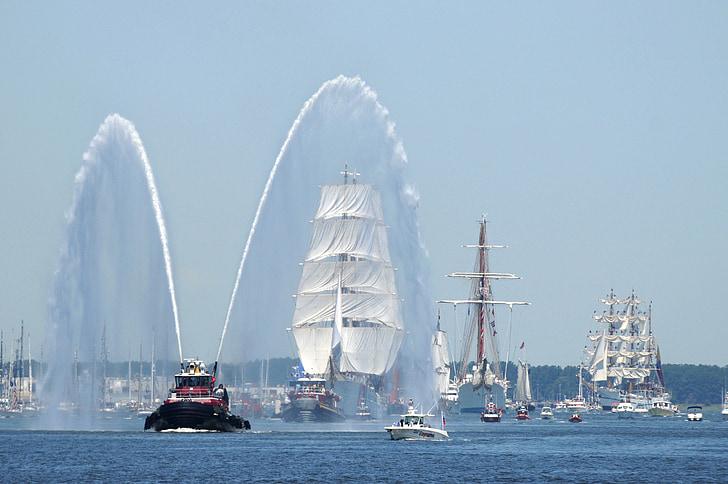Virginia, Sky, felhők, kikötő, Port, folyó, Bay