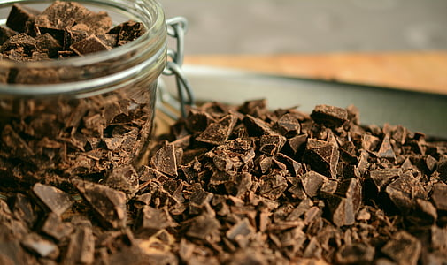 chocolate, shaving, chopped chocolate, hacked, ingredient, cut, chocolate pieces