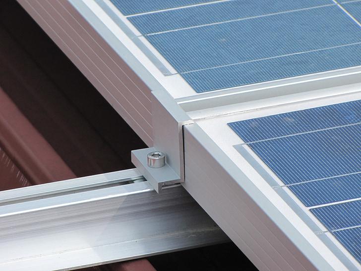 pannalli, solar, tecnologia, parèntesi, suport, llum, corrent elèctric
