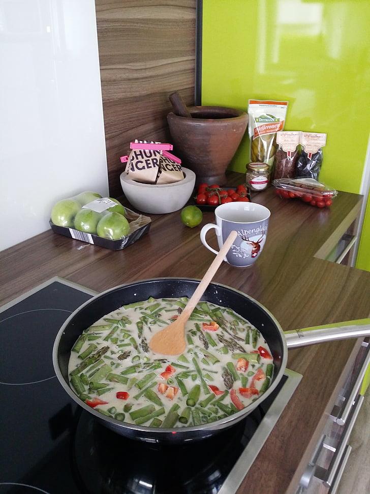 cuinar, verd, cuina, Frisch, Sa