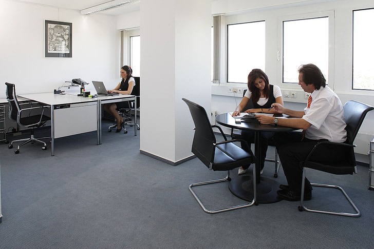 office, furniture, colleagues, staff, sit, meeting, people