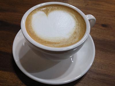 cafè latte, cafè, cafeteria, Copa, beguda, Caputxí, calor - temperatura