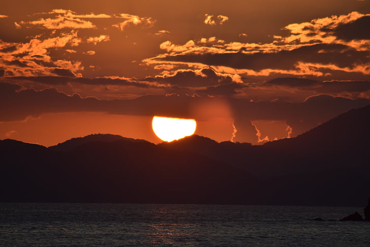päikese, loodus, Sunset, õhtul, rühm, taevas, looduslik Türgi